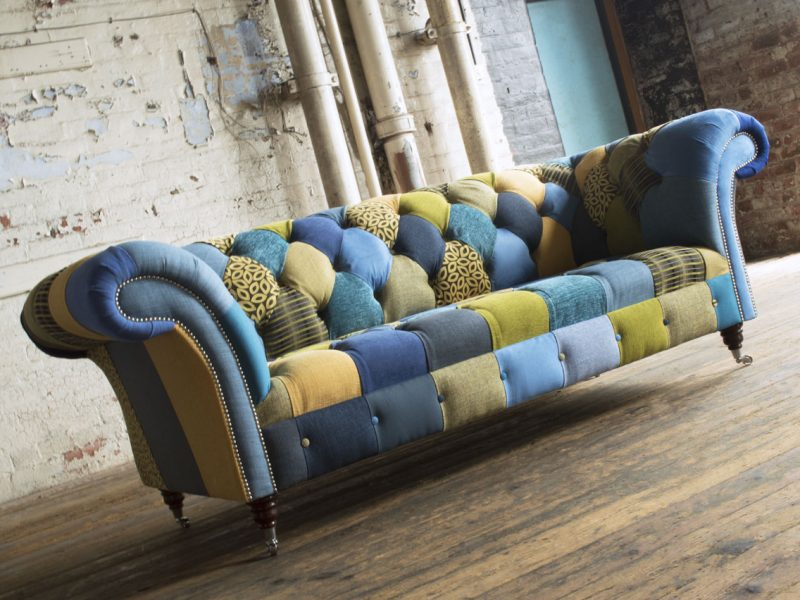 blue-yellow-patchwork-chesterfield-sofa