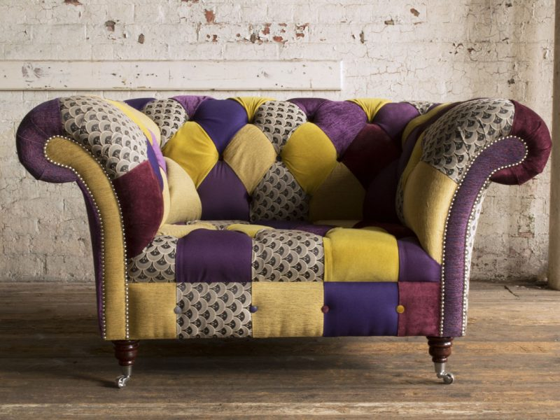 purple-yellow-patchwork-chesterfield-snuggle-chair